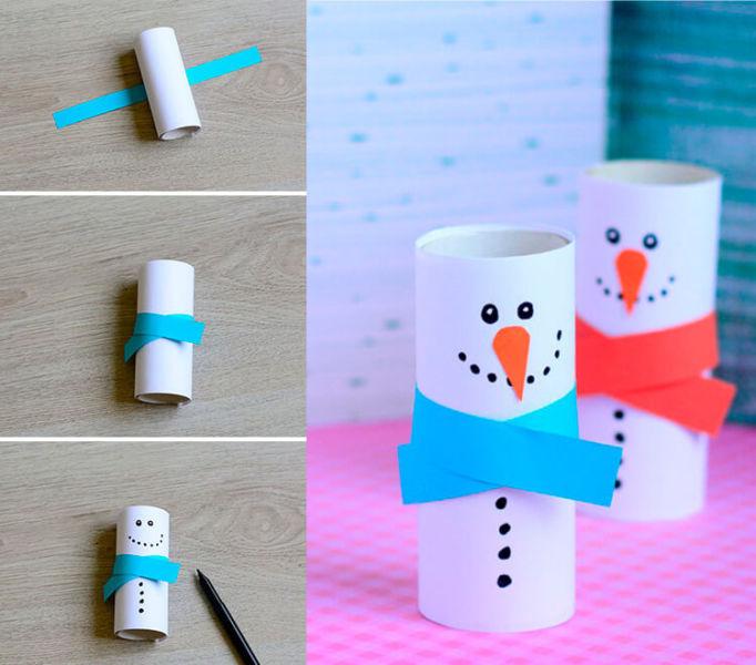 Делаем снеговика своими руками к новому году : различные способы  с фото podelka snegovik svoimi rukami 12 15