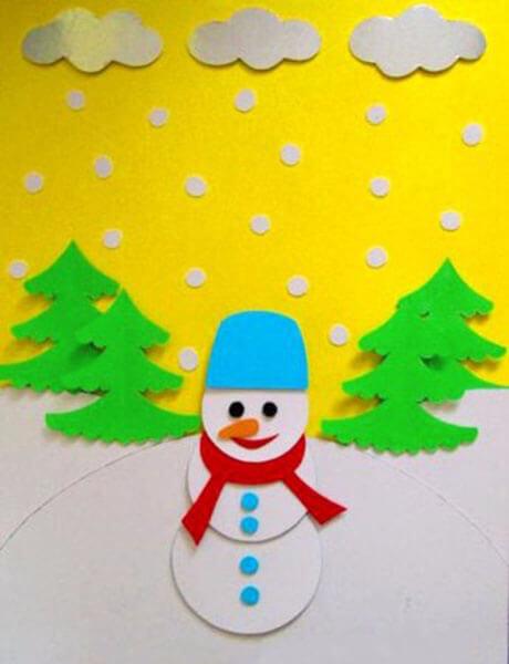 Делаем снеговика своими руками к новому году : различные способы  с фото podelka snegovik svoimi rukami 28