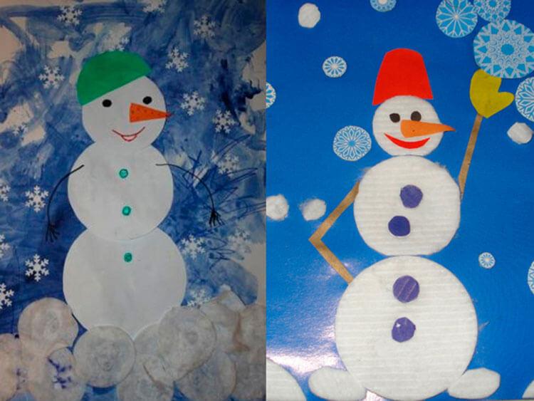 Делаем снеговика своими руками к новому году : различные способы  с фото podelka snegovik svoimi rukami 31