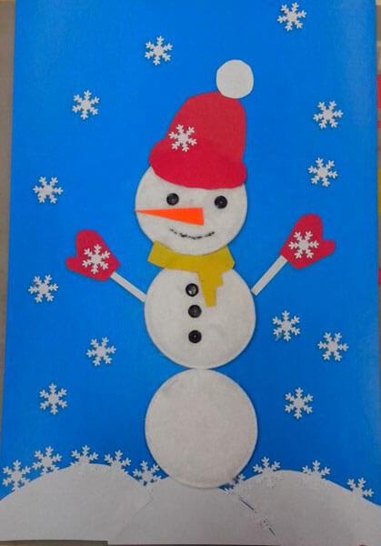 Делаем снеговика своими руками к новому году : различные способы  с фото podelka snegovik svoimi rukami 33