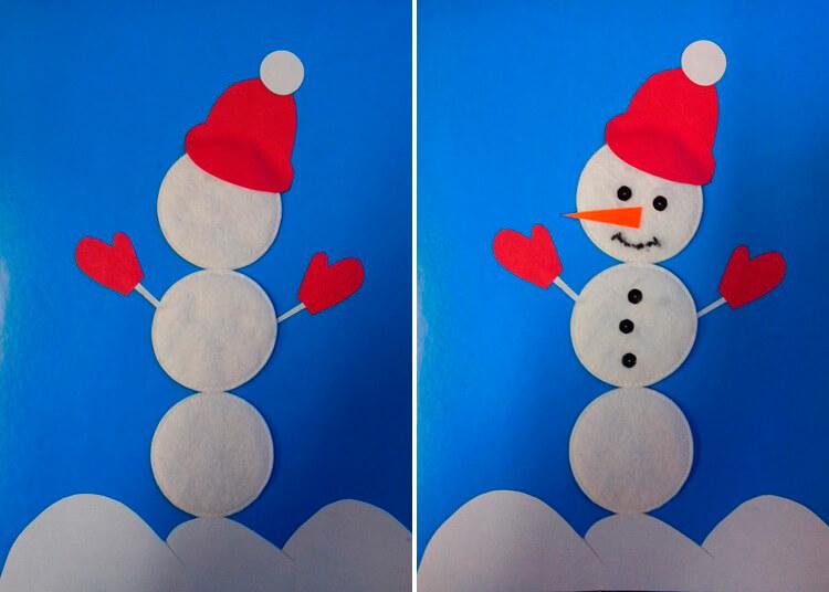 Делаем снеговика своими руками к новому году : различные способы  с фото podelka snegovik svoimi rukami 36 37