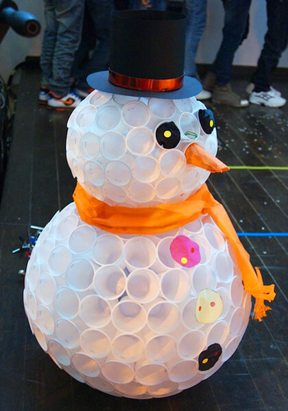 Делаем снеговика своими руками к новому году : различные способы  с фото podelka snegovik svoimi rukami 46