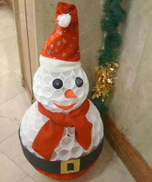 Делаем снеговика своими руками к новому году : различные способы  с фото podelka snegovik svoimi rukami 47