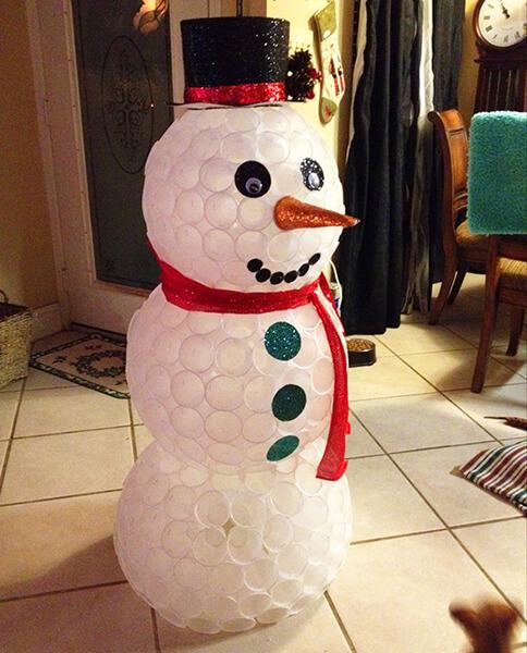 Делаем снеговика своими руками к новому году : различные способы  с фото podelka snegovik svoimi rukami 48
