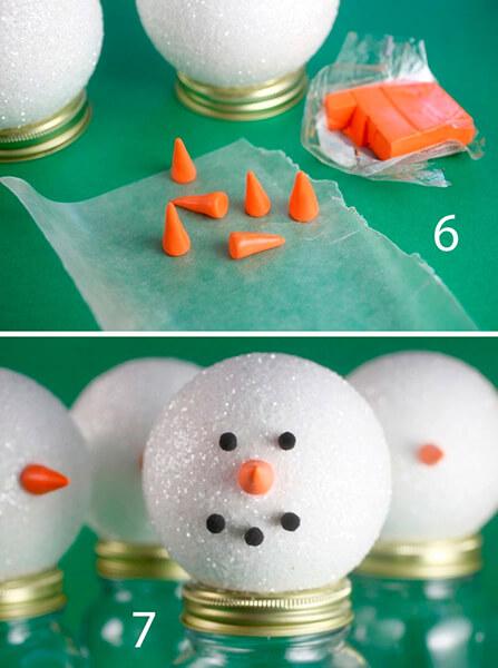 Делаем снеговика своими руками к новому году : различные способы  с фото podelka snegovik svoimi rukami 5