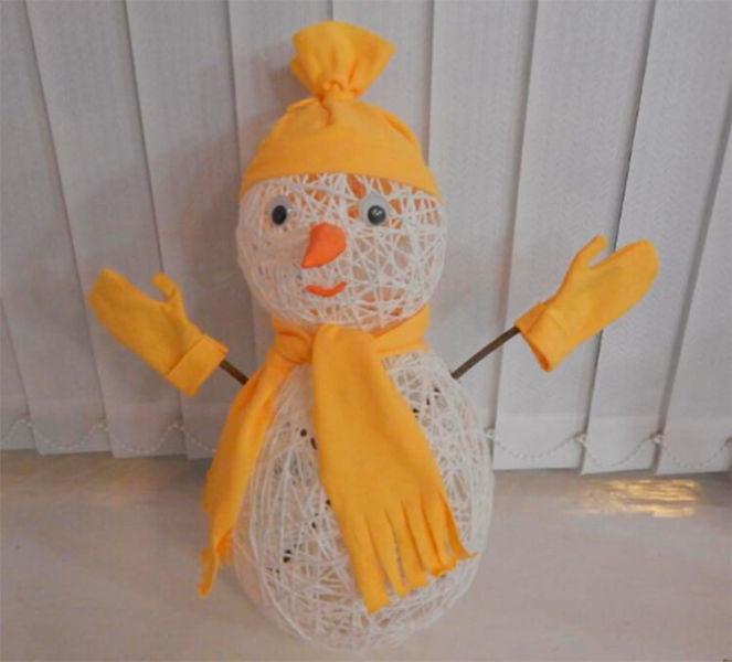 Делаем снеговика своими руками к новому году : различные способы  с фото podelka snegovik svoimi rukami 50