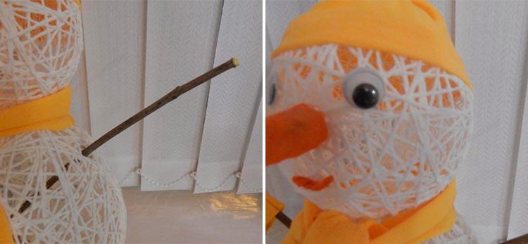 Делаем снеговика своими руками к новому году : различные способы  с фото podelka snegovik svoimi rukami 53 54