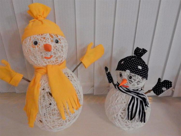 Делаем снеговика своими руками к новому году : различные способы  с фото podelka snegovik svoimi rukami 61