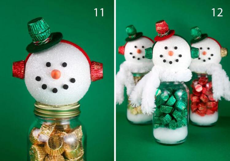 Делаем снеговика своими руками к новому году : различные способы  с фото podelka snegovik svoimi rukami 7