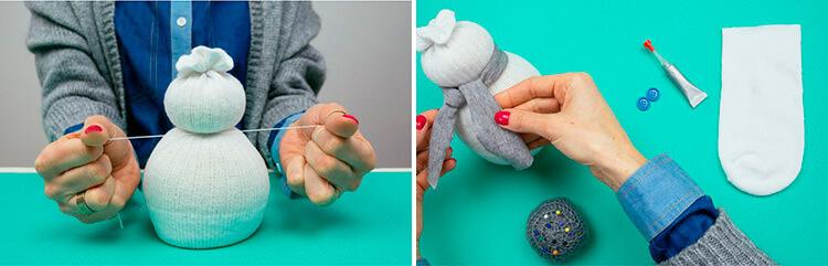 Делаем снеговика своими руками к новому году : различные способы  с фото podelka snegovik svoimi rukami 71 72