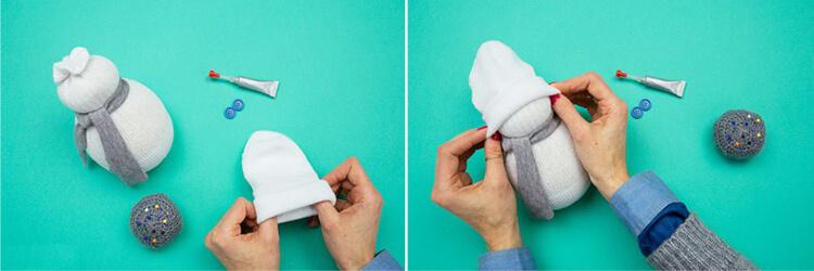 Делаем снеговика своими руками к новому году : различные способы  с фото podelka snegovik svoimi rukami 73