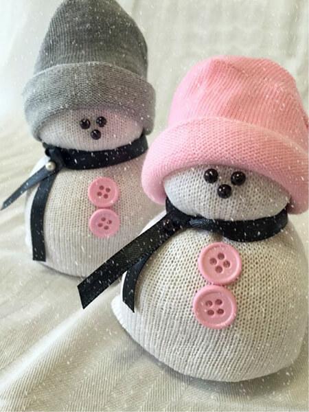 Делаем снеговика своими руками к новому году : различные способы  с фото podelka snegovik svoimi rukami 77