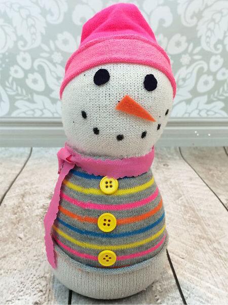 Делаем снеговика своими руками к новому году : различные способы  с фото podelka snegovik svoimi rukami 78