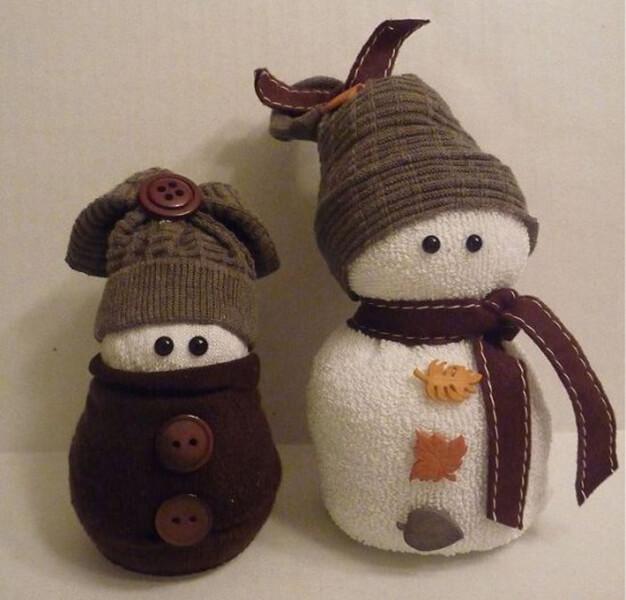 Делаем снеговика своими руками к новому году : различные способы  с фото podelka snegovik svoimi rukami 79