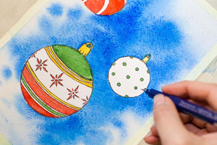 Рисунки на новогоднюю тематику: что можно нарисовать на Новый год risunki na novogodnyuyu temu 101