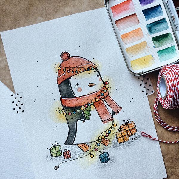 Рисунки на новогоднюю тематику: что можно нарисовать на Новый год risunki na novogodnyuyu temu 103