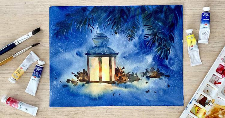 Рисунки на новогоднюю тематику: что можно нарисовать на Новый год