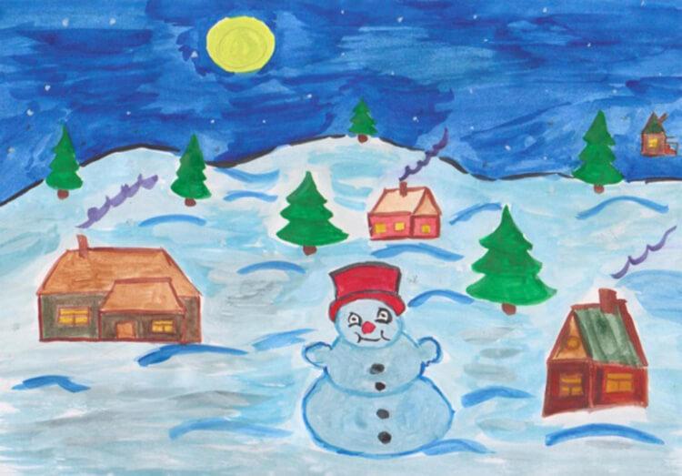 Рисунки на новогоднюю тематику: что можно нарисовать на Новый год risunki na novogodnyuyu temu 105