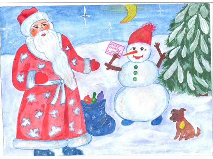 Рисунки на новогоднюю тематику: что можно нарисовать на Новый год risunki na novogodnyuyu temu 106