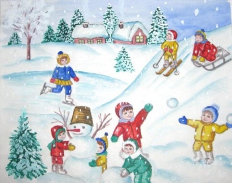 Рисунки на новогоднюю тематику: что можно нарисовать на Новый год risunki na novogodnyuyu temu 109