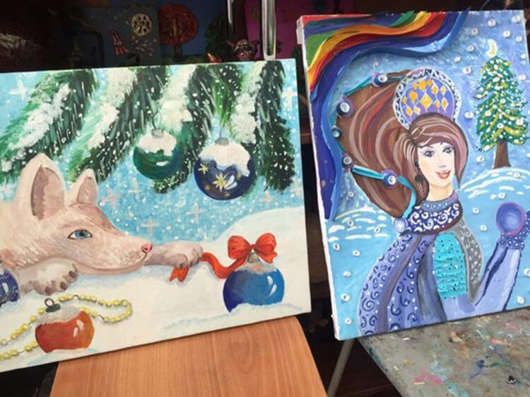 Рисунки на новогоднюю тематику: что можно нарисовать на Новый год risunki na novogodnyuyu temu 122