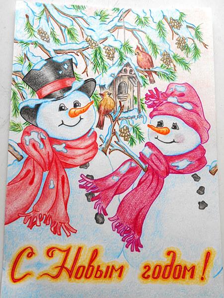 Рисунки на новогоднюю тематику: что можно нарисовать на Новый год risunki na novogodnyuyu temu 123