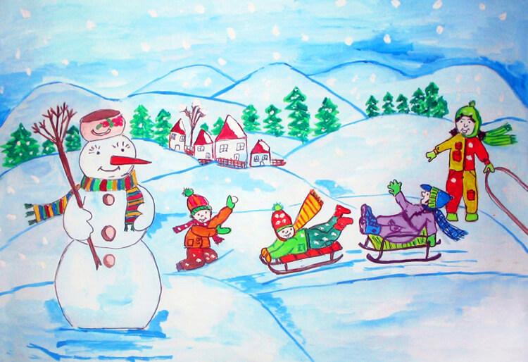 Рисунки на новогоднюю тематику: что можно нарисовать на Новый год risunki na novogodnyuyu temu 124