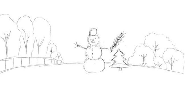 Рисунки на новогоднюю тематику: что можно нарисовать на Новый год risunki na novogodnyuyu temu 39