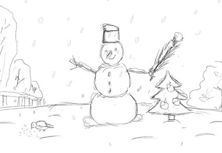 Рисунки на новогоднюю тематику: что можно нарисовать на Новый год risunki na novogodnyuyu temu 40