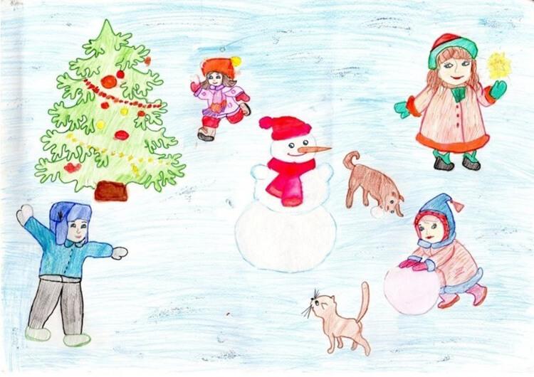 Рисунки на новогоднюю тематику: что можно нарисовать на Новый год risunki na novogodnyuyu temu 58