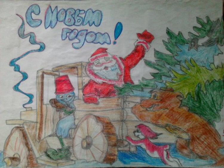 Рисунки на новогоднюю тематику: что можно нарисовать на Новый год risunki na novogodnyuyu temu 62