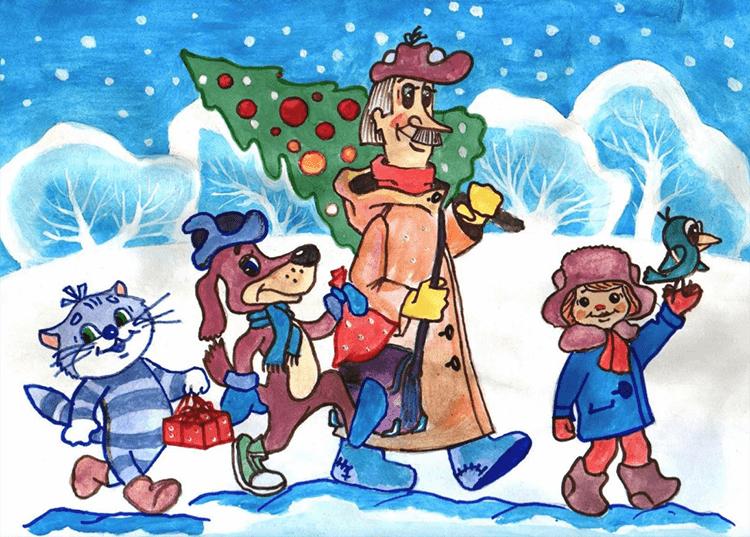 Рисунки на новогоднюю тематику: что можно нарисовать на Новый год risunki na novogodnyuyu temu 81