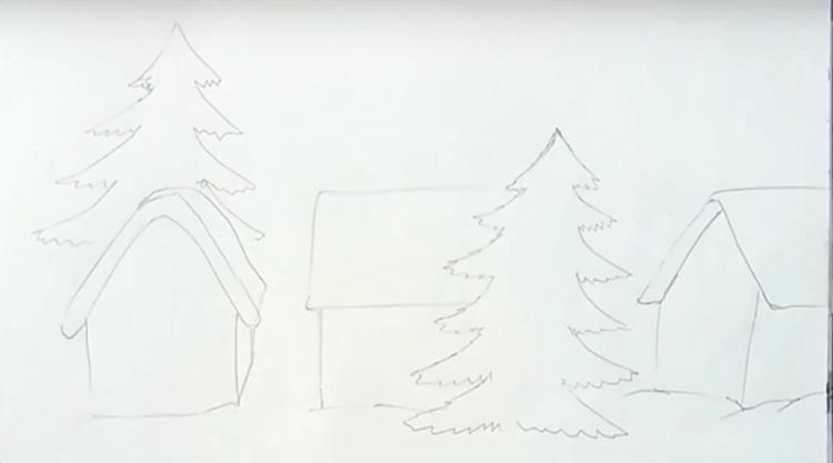 Рисунки на новогоднюю тематику: что можно нарисовать на Новый год risunki na novogodnyuyu temu 86