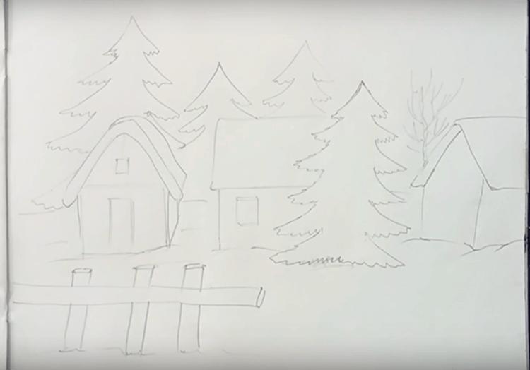 Рисунки на новогоднюю тематику: что можно нарисовать на Новый год risunki na novogodnyuyu temu 87