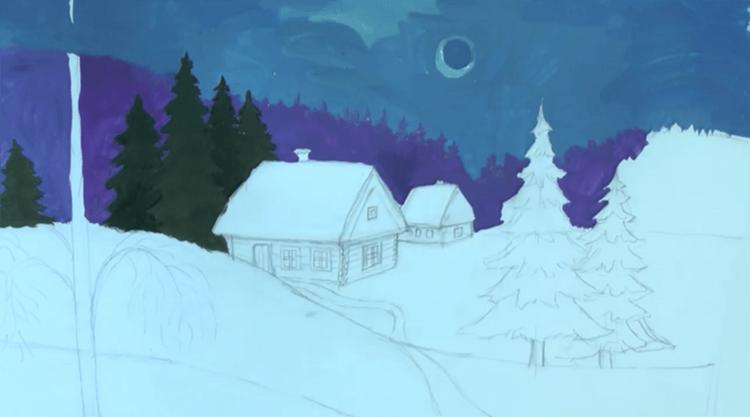 Рисунки на новогоднюю тематику: что можно нарисовать на Новый год risunki na novogodnyuyu temu 90