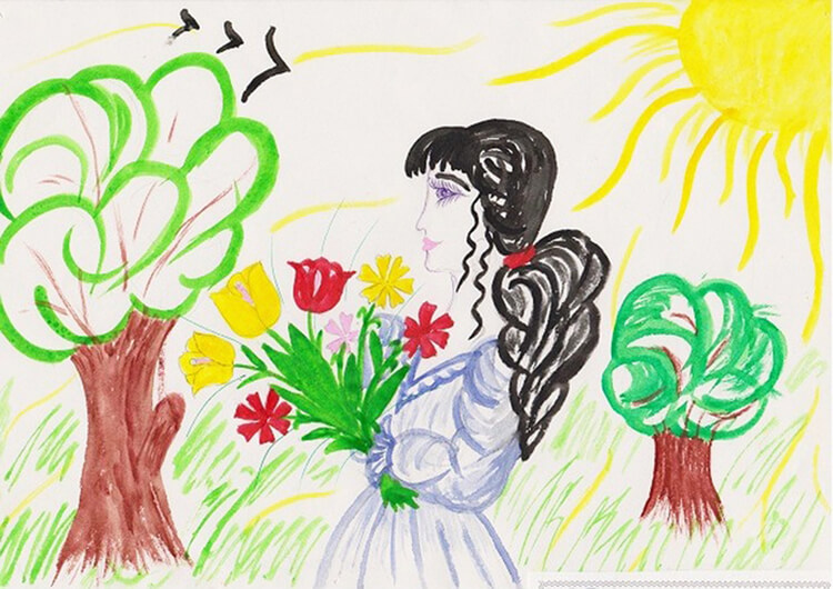 Детские рисунки на день матери: выражаем свою любовь к маме на бумаге risunok na den materi 15
