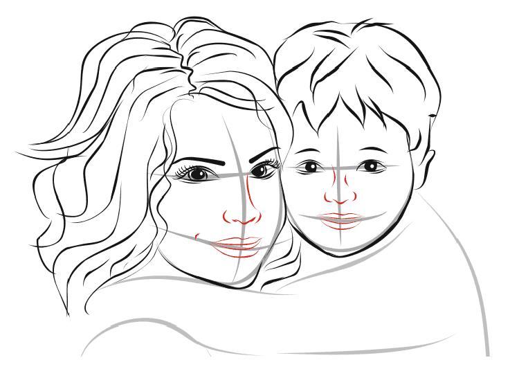 Детские рисунки на день матери: выражаем свою любовь к маме на бумаге risunok na den materi 46