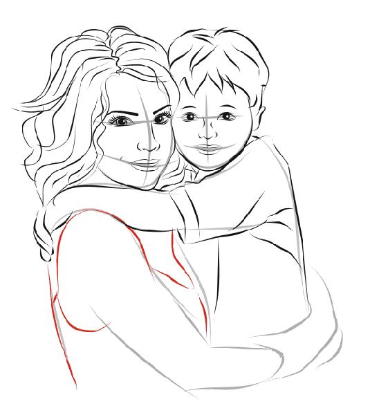 Детские рисунки на день матери: выражаем свою любовь к маме на бумаге risunok na den materi 47