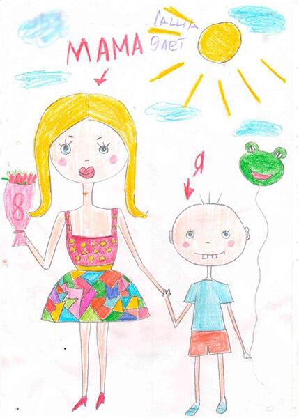 Детские рисунки на день матери: выражаем свою любовь к маме на бумаге risunok na den materi 62
