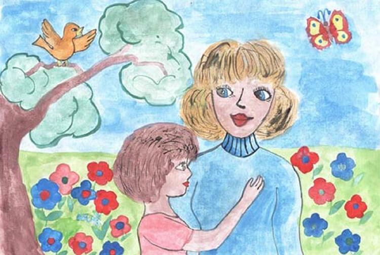 Детские рисунки на день матери: выражаем свою любовь к маме на бумаге risunok na den materi 69