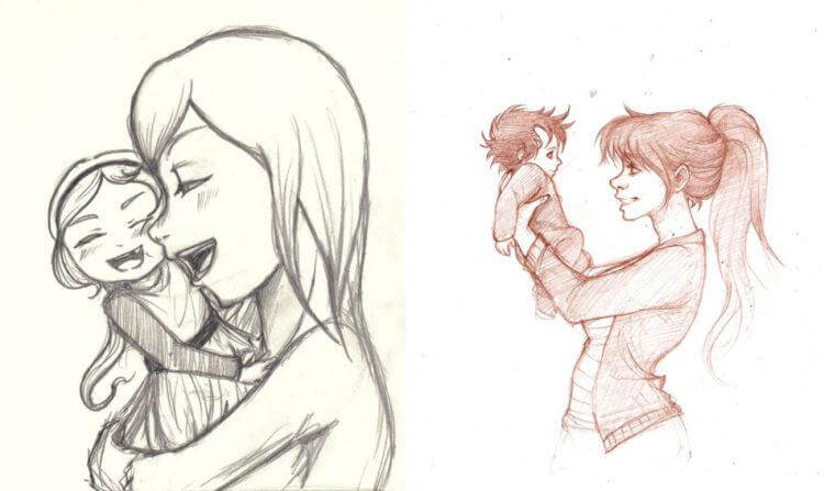 Детские рисунки на день матери: выражаем свою любовь к маме на бумаге risunok na den materi 70