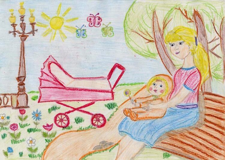 Детские рисунки на день матери: выражаем свою любовь к маме на бумаге risunok na den materi 71