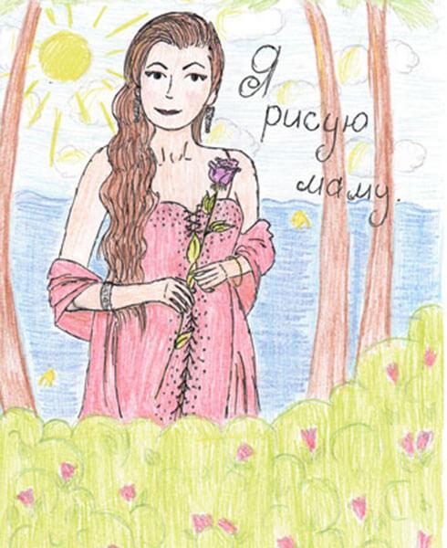 Детские рисунки на день матери: выражаем свою любовь к маме на бумаге risunok na den materi 74