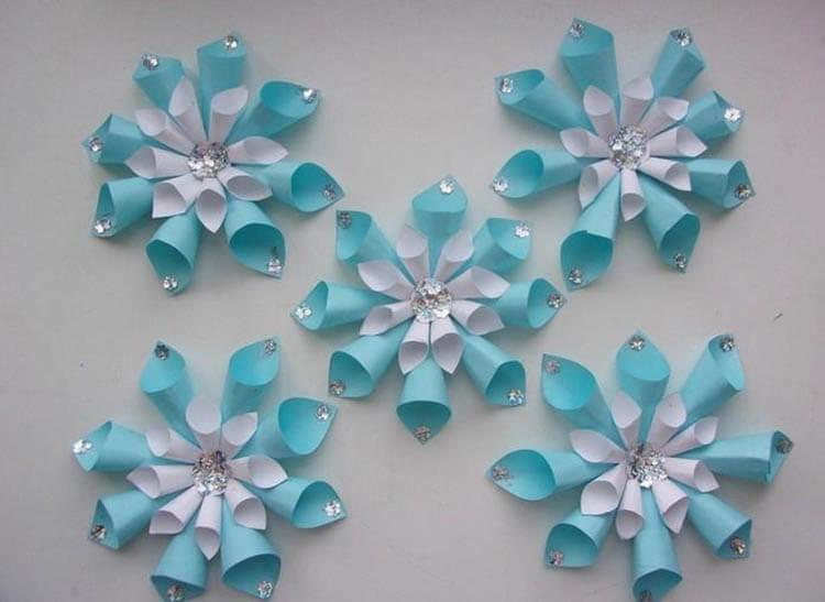 Красивые оригинальные снежинки на Новый год: создаем своими руками, шаблоны с фото snezhinki iz bumagi svoimi rukami 44