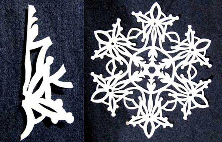 Красивые оригинальные снежинки на Новый год: создаем своими руками, шаблоны с фото snezhinki iz bumagi svoimi rukami 47