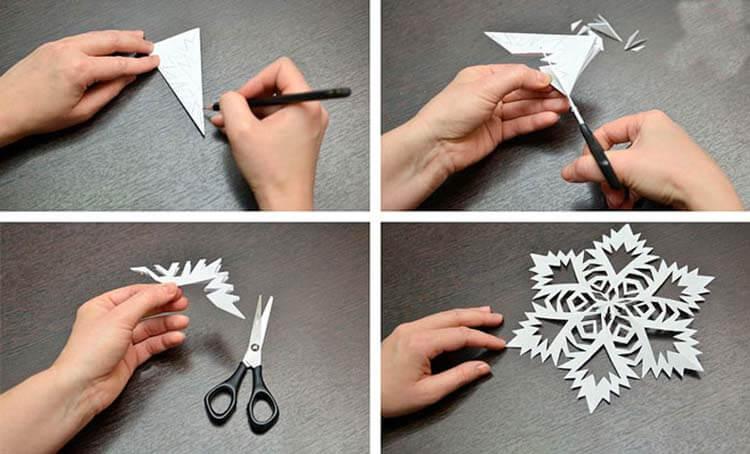 Красивые оригинальные снежинки на Новый год: создаем своими руками, шаблоны с фото snezhinki iz bumagi svoimi rukami 6