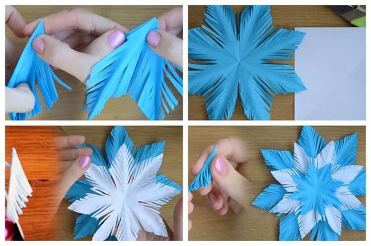 Красивые оригинальные снежинки на Новый год: создаем своими руками, шаблоны с фото snezhinki iz bumagi svoimi rukami 74