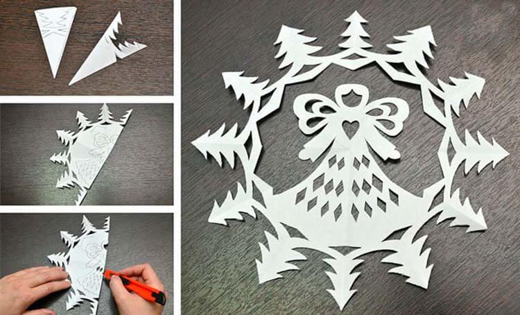 Красивые оригинальные снежинки на Новый год: создаем своими руками, шаблоны с фото snezhinki iz bumagi svoimi rukami 8