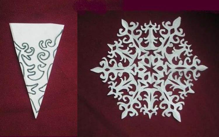 Красивые оригинальные снежинки на Новый год: создаем своими руками, шаблоны с фото snezhinki iz bumagi svoimi rukami 91