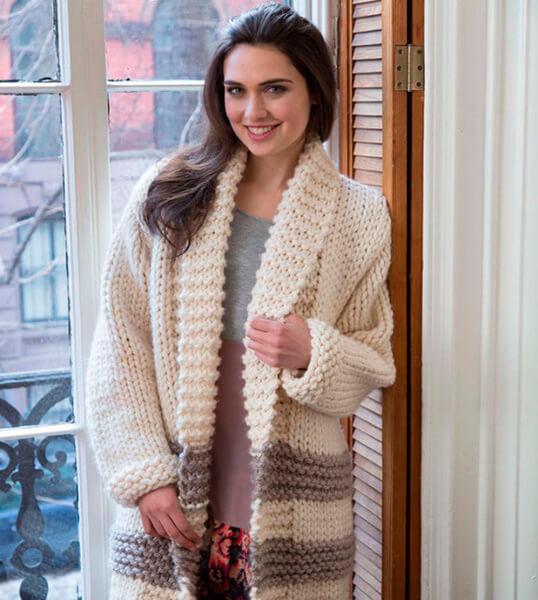 Женские кардиганы спицами: вяжем красивые и модные вещи своими руками vyazanyj spicami kardigan 15